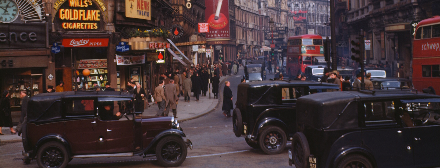 Piccadilly Circus in 1949/Wikimedia
